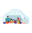 family spending time together vector image