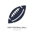 fast football ball icon on white background
