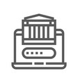 fintech industry line icon vector image