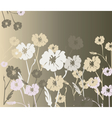 Flowers ornaments background texture vector image vector image