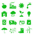 green ecology icons vector image vector image