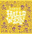 Happy halloween greeting card fun lettering