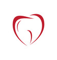 heart love dental vector image vector image
