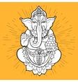 Hindu God Ganesha vector image