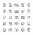 icon set - book vector image vector image