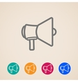 icon set with a megaphone or loudspeaker in flat vector image vector image