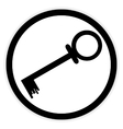 Key button on white vector image vector image