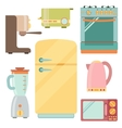 Kitchen appliances icons set kitchenware equipment vector image vector image