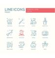 Magic - line design icons set vector image vector image