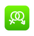 male and female signs icon digital green vector image vector image