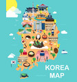 map of korea vector image vector image