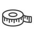 measure tape line icon centimeter and size vector image