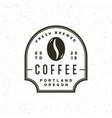 modern vintage coffee shop label vector image