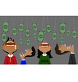 money and bait vector image vector image