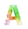 Music theme grungy font Letter A vector image vector image
