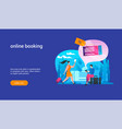 online booking concept2 vector image vector image
