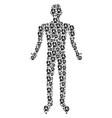 operator human figure vector image