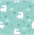 pattern with unicorn vector image vector image