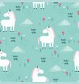 Pattern with unicorn