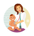 pediatrician and child vector image vector image