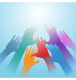 people hands vector image vector image
