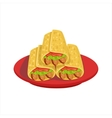 Pile Of Burritos Traditional Mexican Cuisine Dish vector image vector image