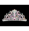pink diadem feminine crown vector image vector image