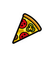 pizza colored with contour fast food icon vector image