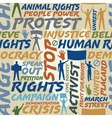 Protest seamless tile vector image vector image