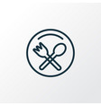 restaurant sign icon line symbol premium quality vector image vector image
