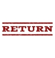 Return Watermark Stamp vector image