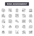 risk assessment line icons signs set vector image vector image