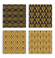 seamless pattern in art deco style set four vector image vector image