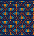 seamless pattern with oriental motifs and vector image vector image