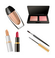 set of different cosmetics vector image vector image