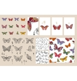 Set with different butterflies vector image vector image