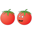 Smiling Tomato vector image vector image