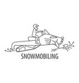 snowmobiling line icon vector image