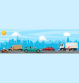 suburban transportation and cargo vector image vector image
