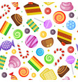 sweets pattern biscuits cakes chocolate and vector image vector image