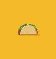 Taco vector image