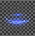 transparent light effect blue lightning flafe vector image