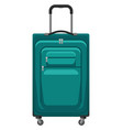 travel textile suitcase with vector image