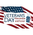 usa flag handrawing background happy veterans vector image vector image