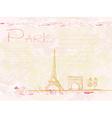 vintage retro Eiffel in Paris card vector image vector image