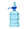 water pump cooler bottle isolated on white vector image vector image