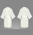 white bathrobe vector image