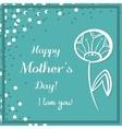 Dandelion Mothers Day Blue vector image