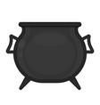 cauldron isolated on white vector image