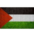 Abstract Mosaic Flag of Palestine vector image vector image